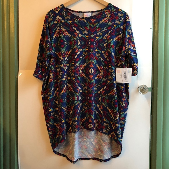 d1450511c77 LuLaRoe Tops | New Irma Blue Leaf Floral High Low Tunic | Poshmark